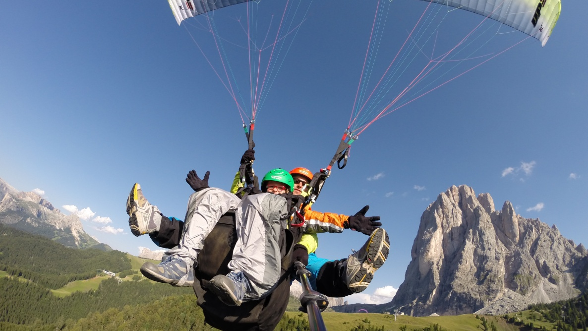 fly with us over the Dolomites