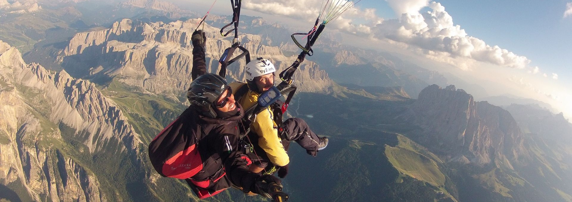 over the Dolomites - paragliding