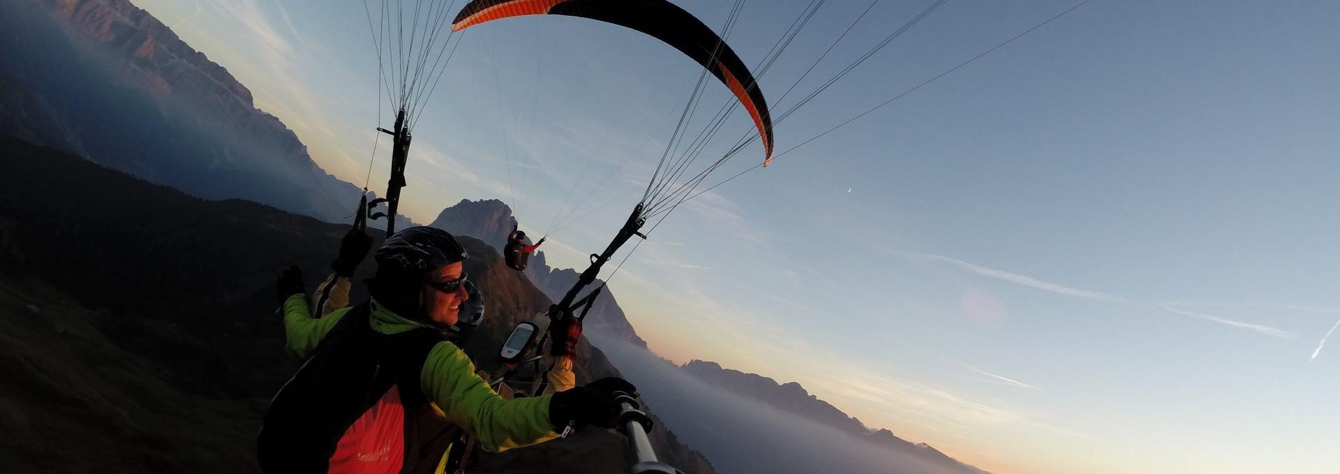 Tandem flight paragliding Dolomites