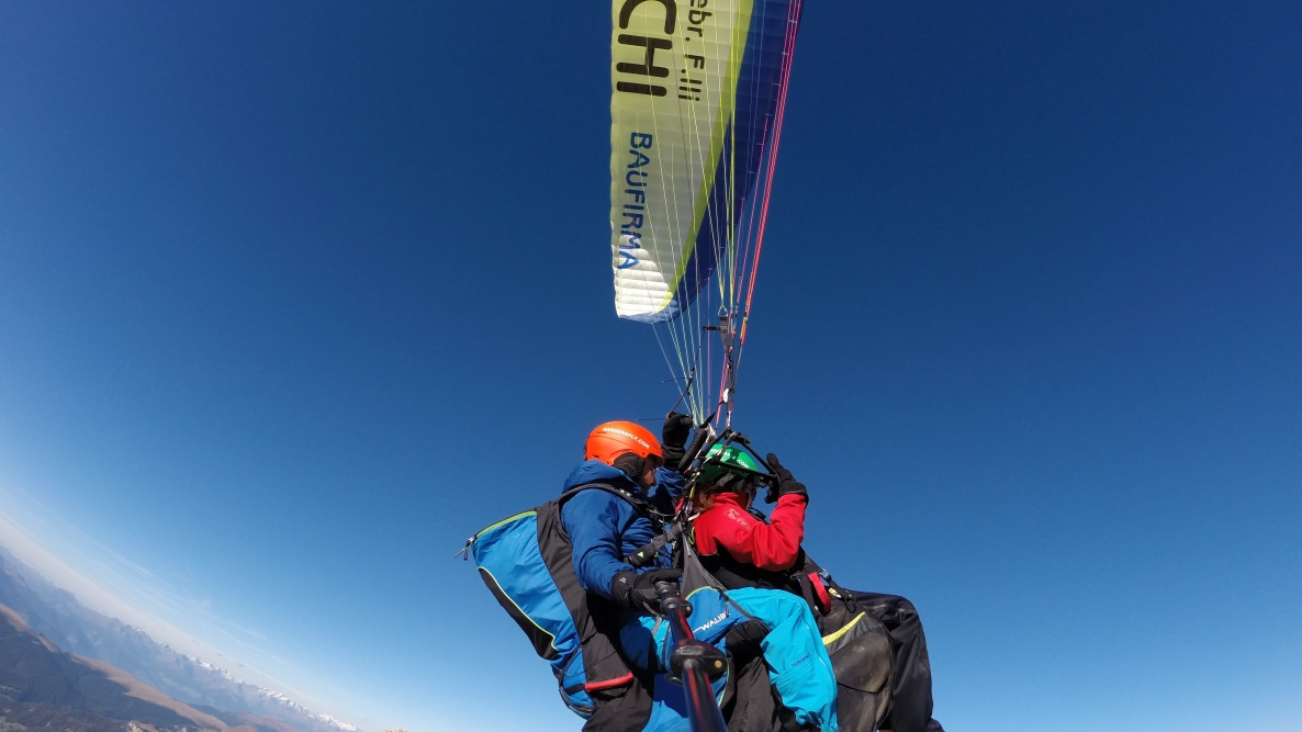 over the Dolomites - Tandem paragliding