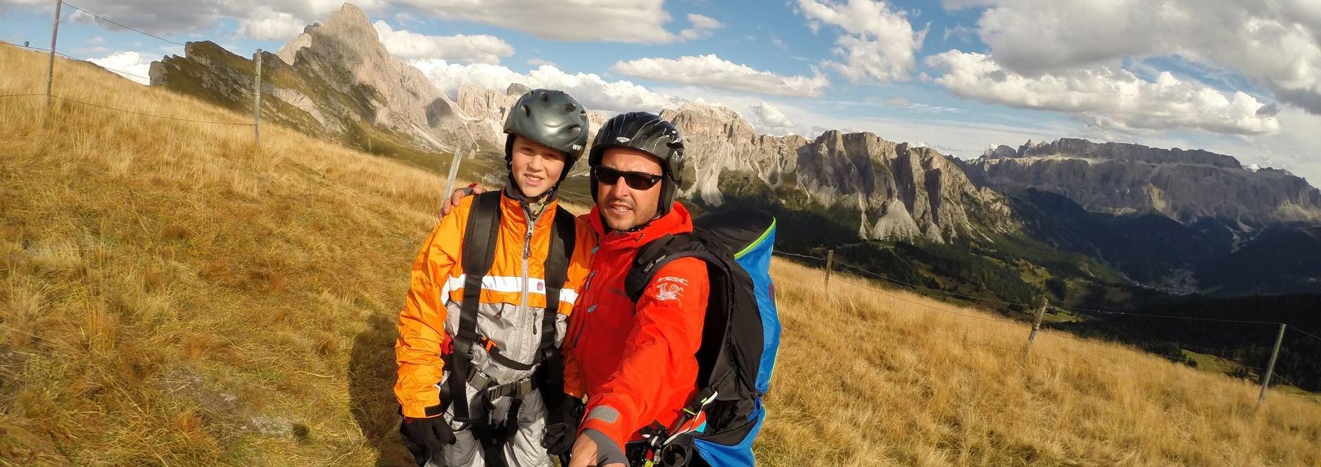 Start Area - paragliding Val Gardena