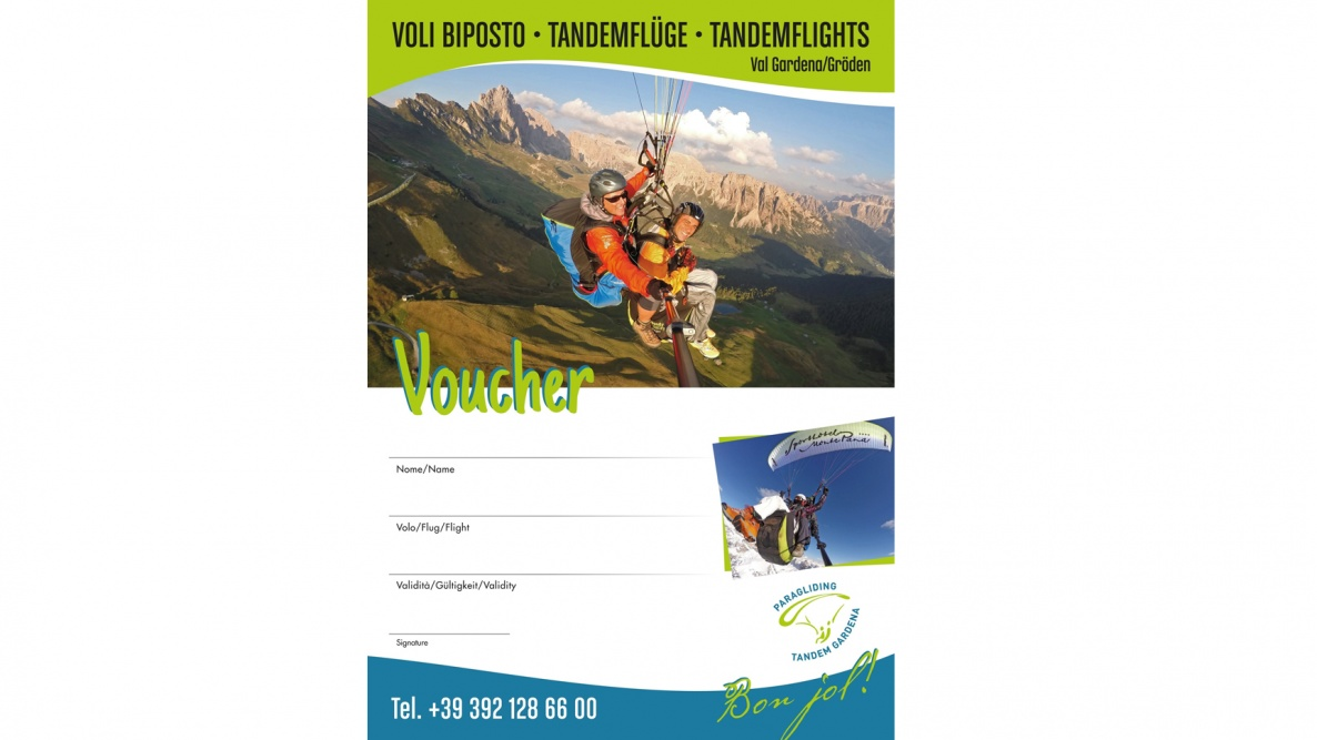 Voucher Paragliding Tandem Flight