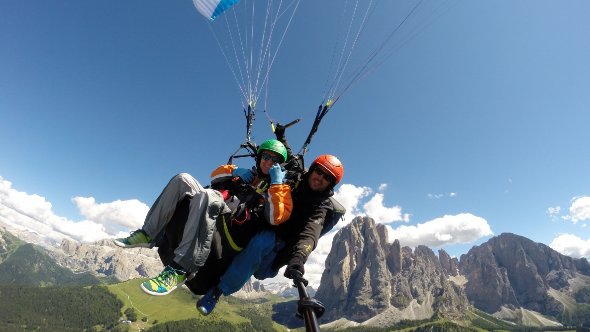 over the mountains - tandem paragliding