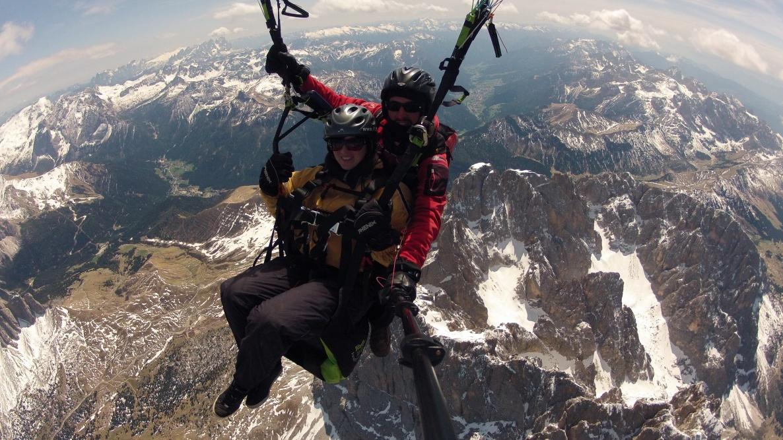 Paragliding Tandem Gardena - Vola con noi sopra il Sassolungo