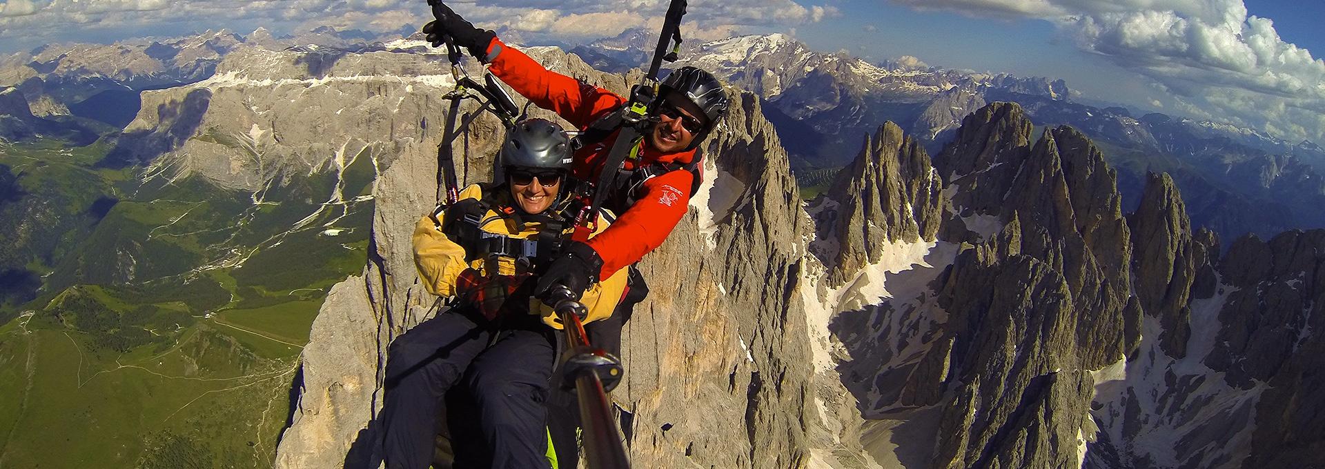 Paragliding tandem Val Gardena