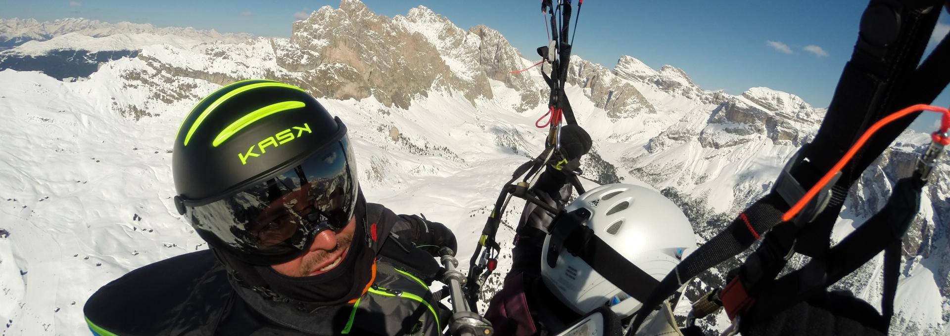 Winter - Paragliding Southtyrol