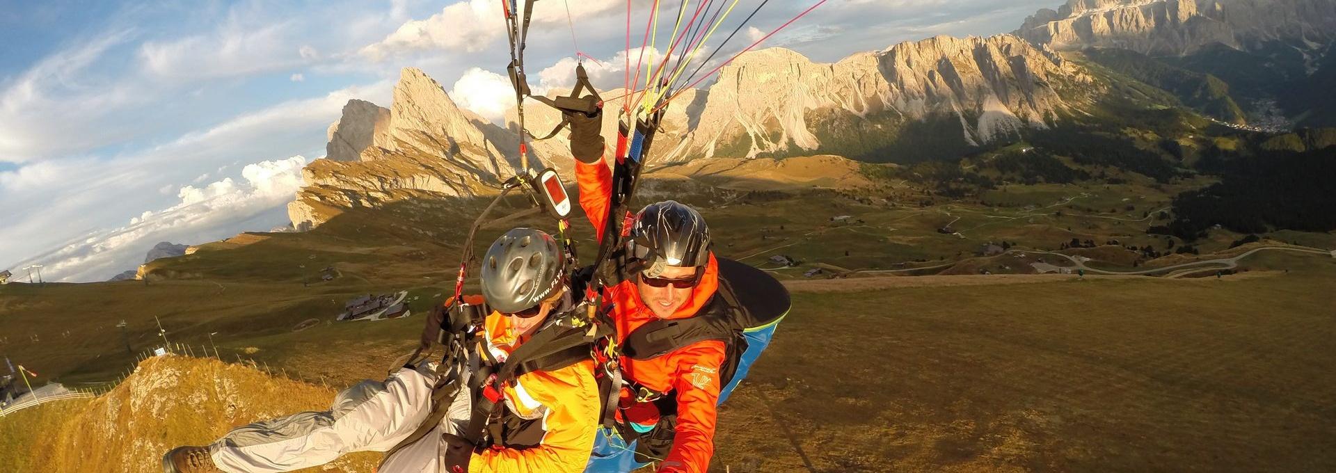 Seceda paragliding Val Gardena