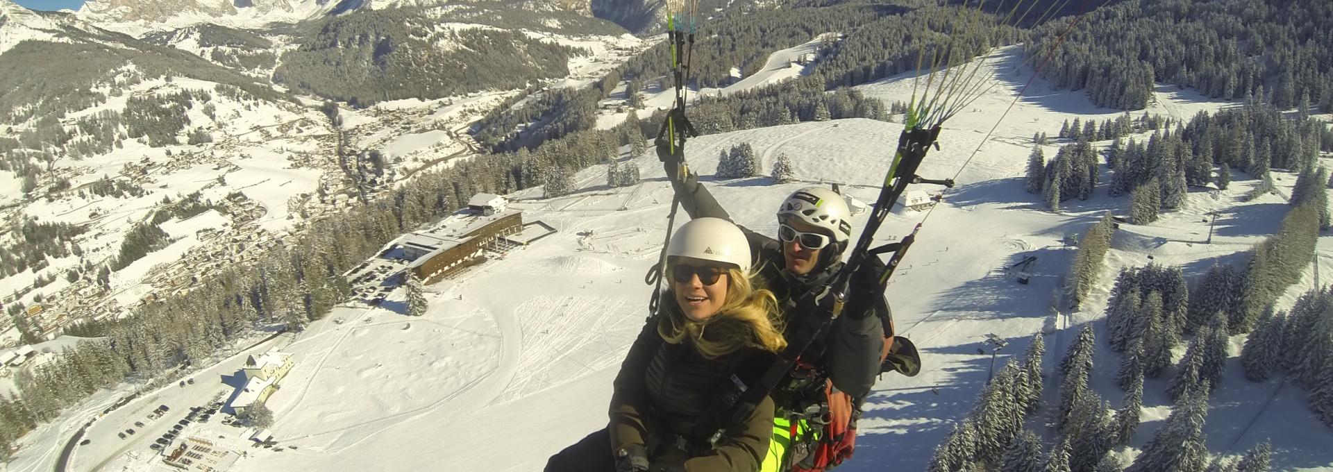 Paragliding Tandem Gardenafly - winter