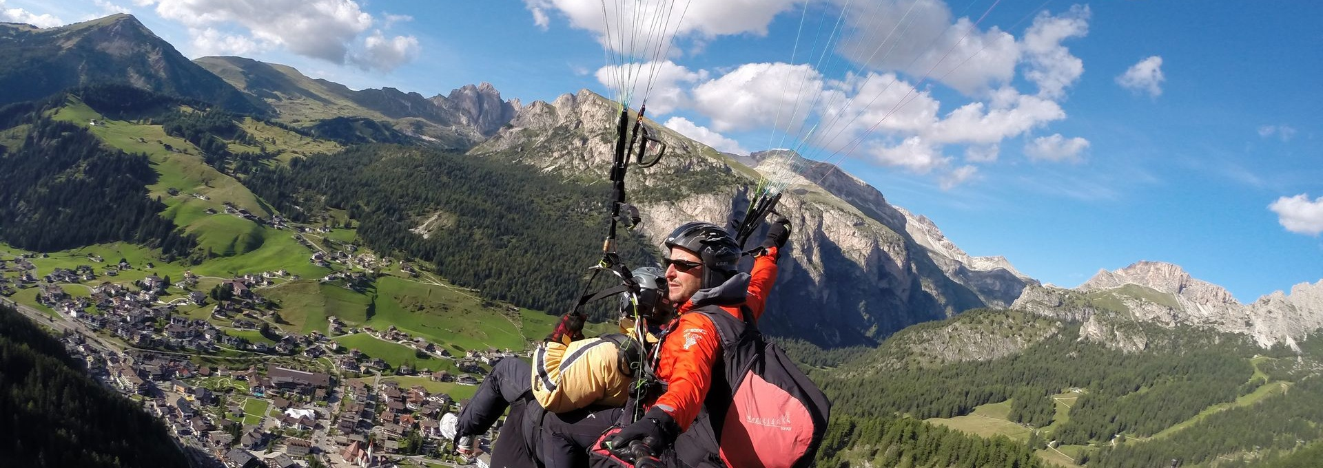 Val Gardena - paragliding tandem