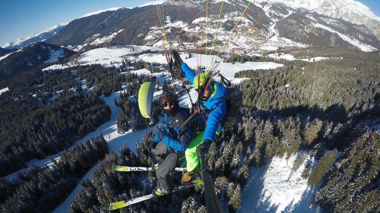 Gleitschirmfliegen Dolomiten