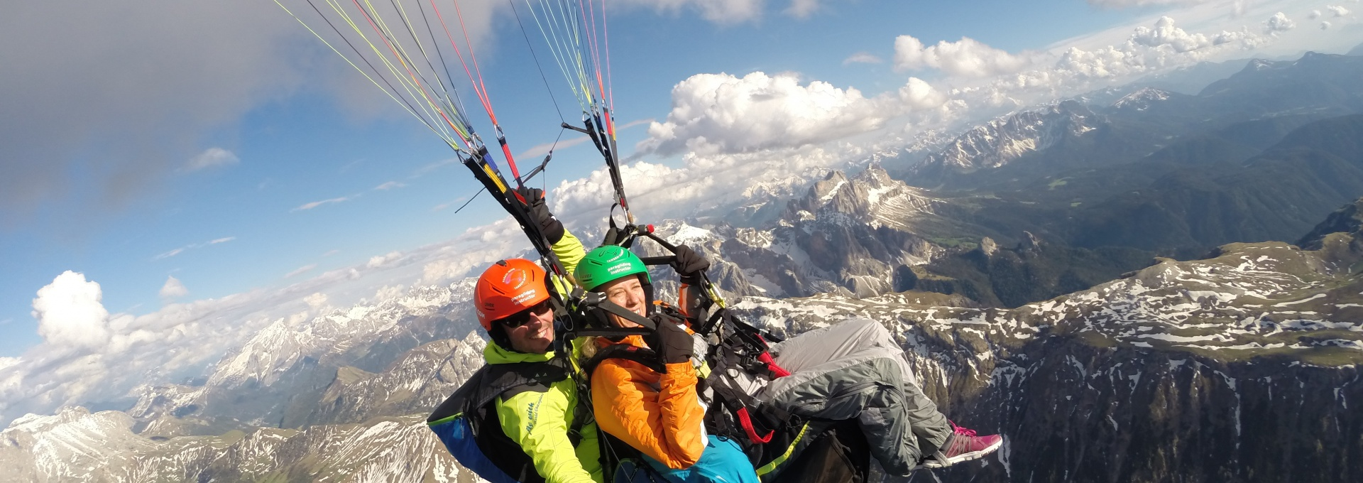 paragliding on Alpe di Siusi