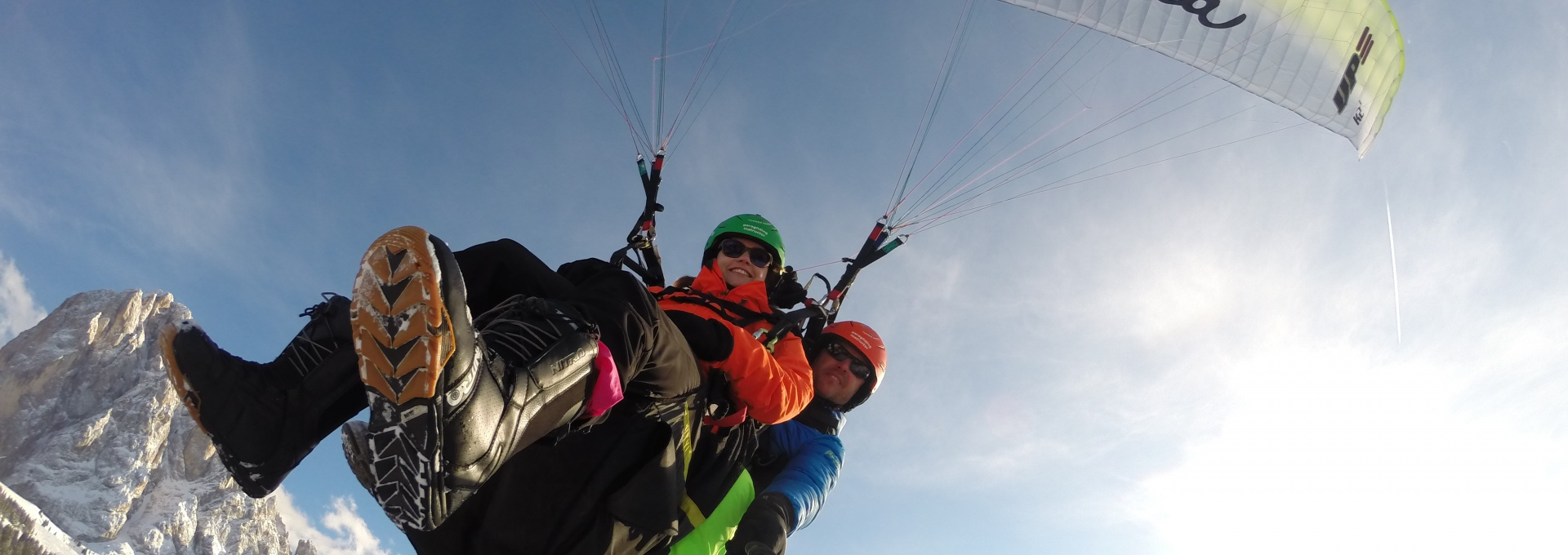Paragliding in Winter Dolomites