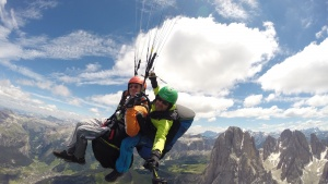 over the Dolomites with Gardenafly