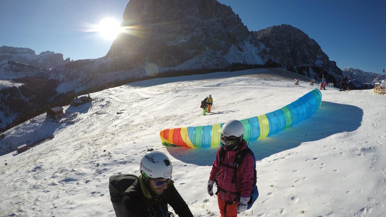 paragliding Val Gardena Dolomites