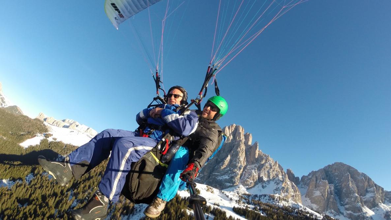 Dolomites - Paragliding Monte Pana