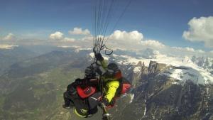 paragliding flight Alpe di Siusi - Sciliar