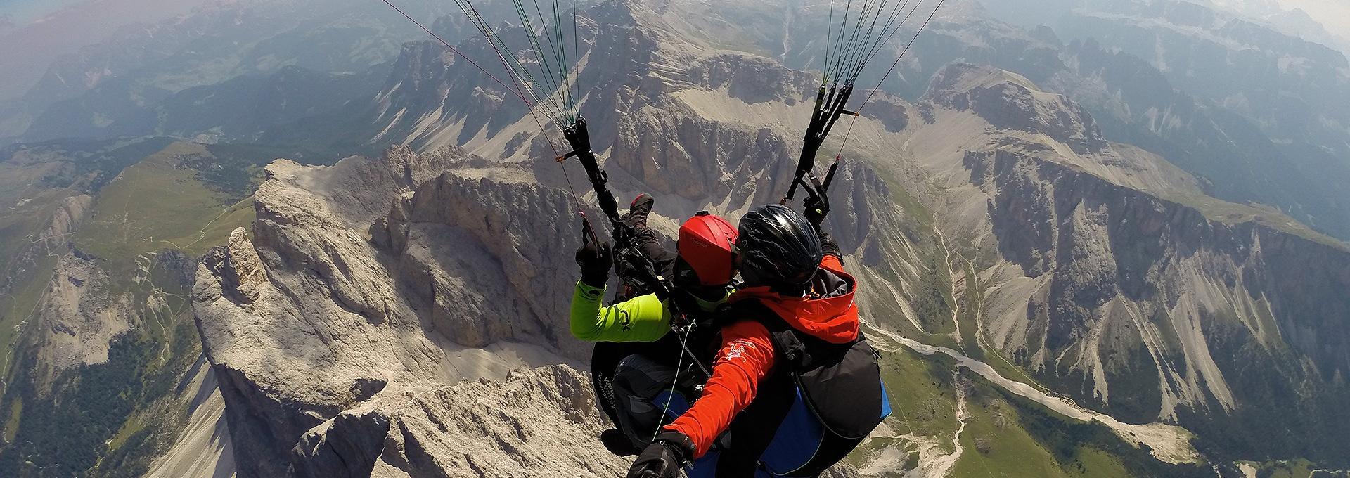 Tandemflug - Gleitschirmfliegen Dolomiten