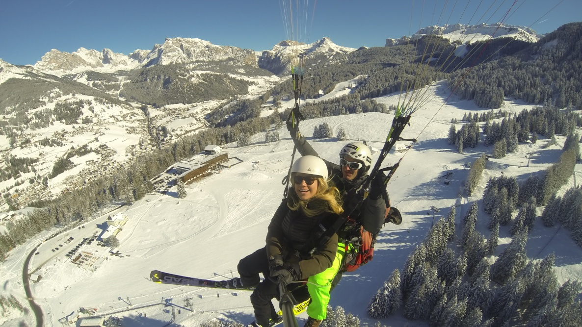 Monte Pana - paragliding in the Dolomites