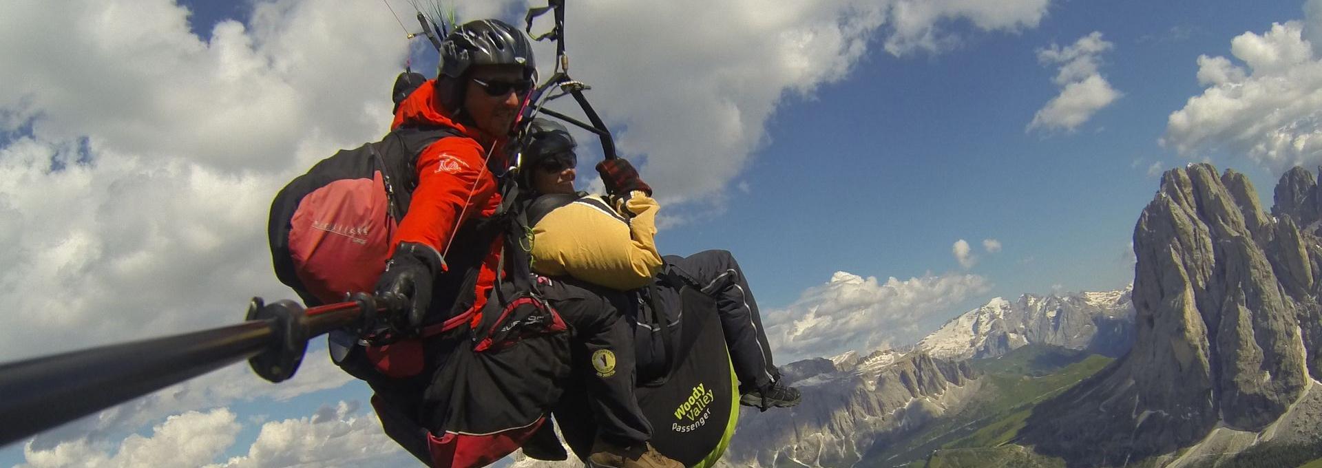 Val Gardena - Dolomites paragliding