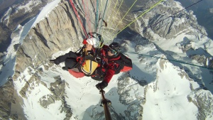 Paragliding Tandem Gardena - over the Marmolada
