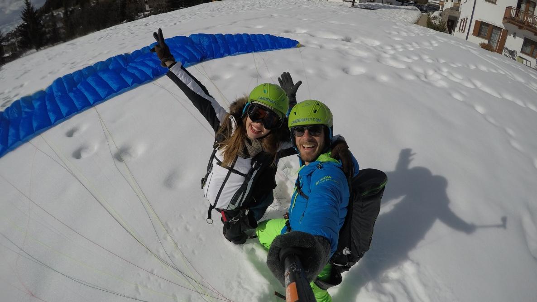 Landung - Paragleiten in den Dolomiten