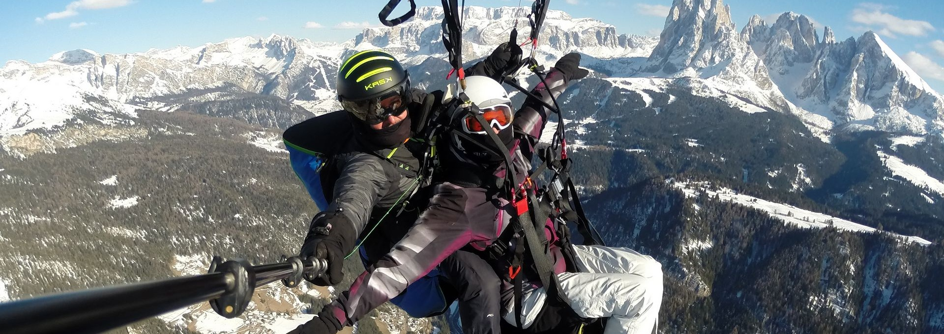South Tyrol - Winterflights with paraglider
