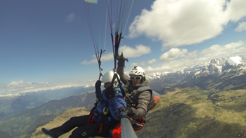 volare in parapendio biposto in Alto Adige