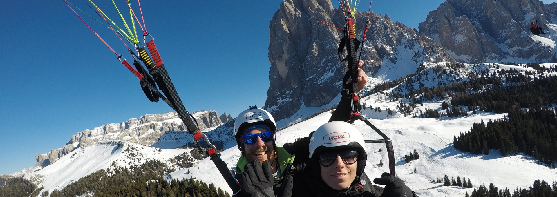 Fly in Winter in Val Gardena