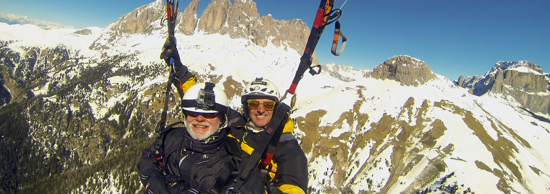 Flying high in the Dolomites