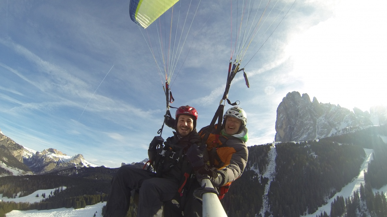 vuoi volare con noi nelle Dolomiti