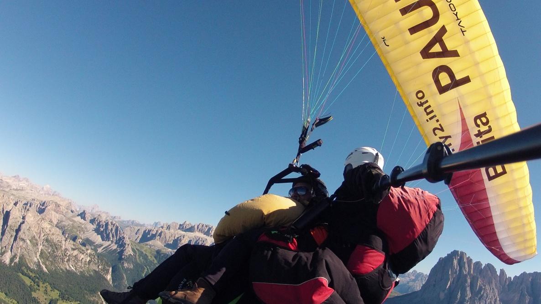 Gardenafly volo tandem sopra il Monte Pic