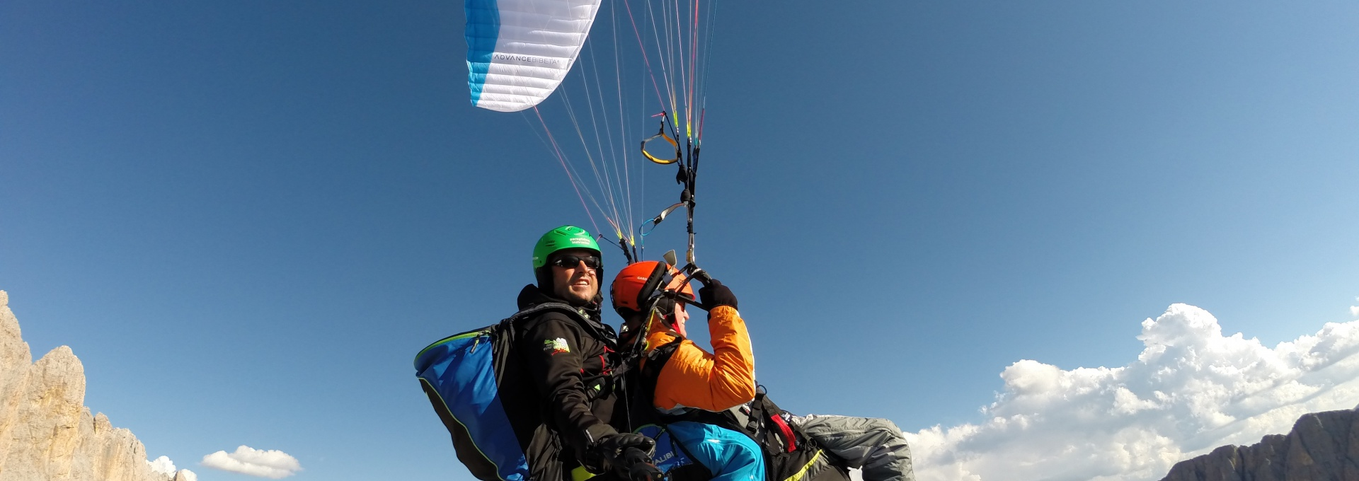 Sassolung - paragliding South Tyrol