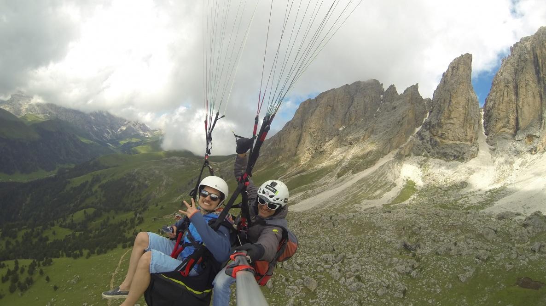 Tandemflüge mit dem Gleitschirm Fassa - Trentino