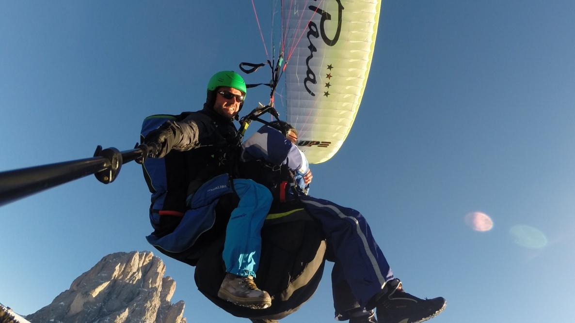 Sassolungo Dolomites Paragliding