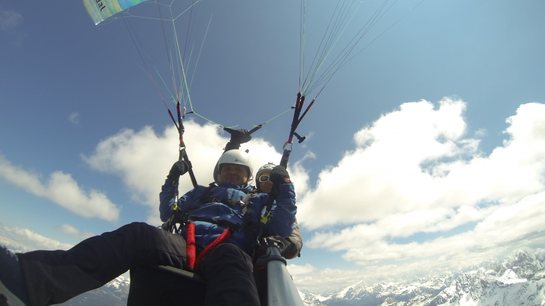Paragliding tandem South Tyrol